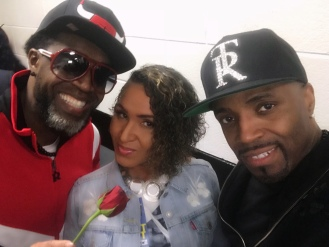 Damion Hall, Queenie, and Teddy Riley